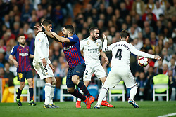 March 2, 2019 - Madrid, MADRID, SPAIN - Luis Suarez of FC Barcelona protest during the spanish league, La Liga, football match played between Real Madrid and FC Barcelona at Santiago Bernabeu Stadium in Madrid, Spain, on March 02, 2019. (Credit Image: © AFP7 via ZUMA Wire)