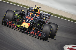 May 11, 2018 - Barcelona, Catalonia, Spain - MAX VERSTAPPEN (NED) drives during the first practice session of the Spanish GP at Circuit de Catalunya in his Red Bull RB14 (Credit Image: © Matthias Oesterle via ZUMA Wire)
