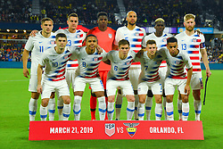 March 21, 2019 - Orlando, Florida, USA - The US Men's National Team starters prior to an international friendly between the US and Ecuador at Orlando City Stadium on March 21, 2019 in Orlando, Florida. .The US won the game 1-0...©2019 Scott A. Miller. (Credit Image: © Scott A. Miller/ZUMA Wire)