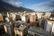 Spectacular sunset view over downtown Caracas from 360º Roofbar at Hotel Altamira Suites.