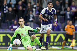 October 1, 2017 - Antwerpen, BELGIUM - Lierse's goalkeeper Nathan Goris pictured during the soccer match between KFCO Beerschot Wilrijk and Lierse SK, in Antwerpen, Sunday 01 October 2017, on the eighth day of the division 1B Proximus League competition of the Belgian soccer championship. BELGA PHOTO KRISTOF VAN ACCOM (Credit Image: © Kristof Van Accom/Belga via ZUMA Press)