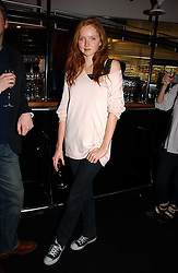 Model LILY COLE at a party to celebrate the launch of a range of leather accessories designed by Giles Deacon for Mulberry held at Harvey Nichols, Knightsbridge, London on 30th October 2007.<br /><br />NON EXCLUSIVE - WORLD RIGHTS