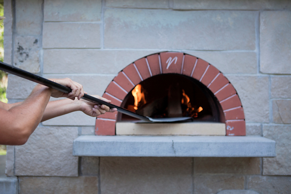 11 July 2012-  John Massey's pizza oven is photographed for Physicians Bulletin.