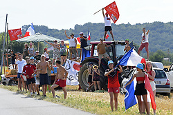 July 20, 2018 - Valence, France - VALENCE, FRANCE - JULY 20 : Illustration picture of fans during stage 13 of the 105th edition of the 2018 Tour de France cycling race, a stage of 169.5 kms between Bourg d'Oisans and Valence on July 20, 2018 in Valence, France, 20/07/2018 (Credit Image: © Panoramic via ZUMA Press)