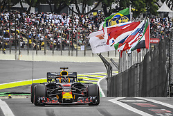 November 10, 2018 - Sao Paulo, Brazil - 03 RICCIARDO Daniel (aus), Aston Martin Red Bull Tag Heuer RB14, action during the 2018 Formula One World Championship, Brazil Grand Prix from November 08 to 11 in Sao Paulo, Brazil -  FIA Formula One World Championship 2018, Grand Prix of Brazil World Championship;2018;Grand Prix;Brazil  (Credit Image: © Hoch Zwei via ZUMA Wire)