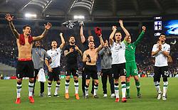 Liverpool players celebrate at full time - Mandatory by-line: Matt McNulty/JMP - 02/05/2018 - FOOTBALL - Stadio Olimpico - Rome,  - Roma v Liverpool - UEFA Champions League Semi Final, 2nd Leg