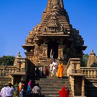 Asia, India, Khajuraho. Temple at Khajuraho