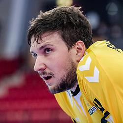Daniel Rebmann (FRISCH AUF! Goeppingen #12) ; ; LIQUI MOLY HBL 20/21  1. Handball-Bundesliga: TVB Stuttgart - FRISCH AUF! Goeppingen am 24.04.2021 in Stuttgart (SCHARRena), Baden-Wuerttemberg, Deutschland beim Spiel in der Handball Bundesliga, TVB 1898 Stuttgart - FRISCH AUF! Goeppingen.<br /> <br /> Foto © PIX-Sportfotos *** Foto ist honorarpflichtig! *** Auf Anfrage in hoeherer Qualitaet/Aufloesung. Belegexemplar erbeten. Veroeffentlichung ausschliesslich fuer journalistisch-publizistische Zwecke. For editorial use only.