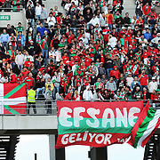 Karsiyakaspor's supporters during their Play Off First leg match at Ataturk olympic Stadium in Istanbul Turkey on Monday, 17 May 2010. Photo by TURKPIX