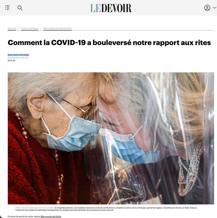 https://www.ledevoir.com/societe/599740/comment-la-covid-19-a-bouleverse-notre-rapport-aux-rites