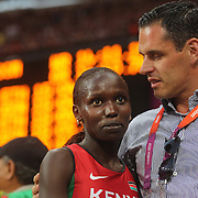 Vivian Jepkemoi Cheruiyot, Kenya, winning the Silver Medal in the Women's 1500m Final at the Olympic Stadium, Olympic Park, during the London 2012 Olympic games. London, UK. 10th August 2012. Photo Tim Clayton