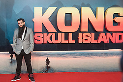 Leicester Square, London, February 28th 2017. Celebrities, VIPs and cast members of Kong: Skull Island, a Warner Brothers release, gather on the red carpet ahead of the film's European Premiere in London. The film stars Tom Hiddleston, Brie Larson, Samuel L Jackson, Tom C Reilly, Toby Kebbel and is directed by Jordan Vogt-Roberts. PICTURED: Jordan Vogt-Roberts