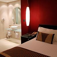 Africa, Kenya, Nairobi. Deluxe room at the Tribe Hotel in Nairobi.