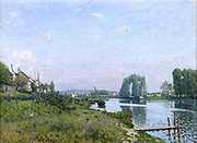 L'Ile St Denis' 1872: Alfred Sisley (1839-1899) French painter.  Oil on canvas.