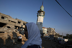Beit Hanoun residents visit Umm al-Nasr Mosque, which was destroyed by Israeli airstrikes, Beit Hanoun, Gaza Strip, Palestinian Territories, Nov. 16, 2006. According to Human Rights Watch, since September 2005, Israel has fired about 15,000 rounds at Gaza while Palestinian militants have fired around 1,700 back.