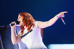 Katy B playing the Goldenvoice Arena on Friday night..RockNess 2011, the annual music festival which takes place in Scotland at Clune Farm, Dores, on the banks of Loch Ness near Inverness..Pic ©2011 Michael Schofield. All Rights Reserved..