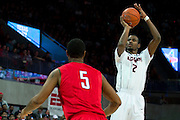 DALLAS, TX - JANUARY 4: DeAndre Daniels #2 of the Connecticut Huskies shoots the ball against the SMU Mustangs on January 4, 2014 at Moody Coliseum in Dallas, Texas.  (Photo by Cooper Neill) *** Local Caption *** DeAndre Daniels