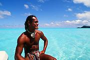 Polynesian Man, Bora Bora, French Polynesia