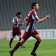 Trabzonspor's Murat TOSUN celebrate his goal during their Turkish superleague soccer match Trabzonspor between Denizlispor at the Avni Aker Stadium in Trabzon Turkey on Monday, 10 May 2010. Photo by TURKPIX