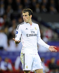 Real Madrid's Gareth Bale - Photo mandatory by-line: Joe Meredith/JMP - Mobile: 07966 386802 12/08/2014 - SPORT - FOOTBALL - Cardiff - Cardiff City Stadium - Real Madrid v Sevilla - UEFA Super Cup