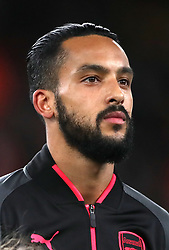 Arsenal's Theo Walcott lines up ahead of the UEFA Europa League, Group H match at the Emirates Stadium, London. PRESS ASSOCIATION Photo. Picture date: Thursday December 7, 2017. See PA story SOCCER Arsenal. Photo credit should read: Nick Potts/PA Wire