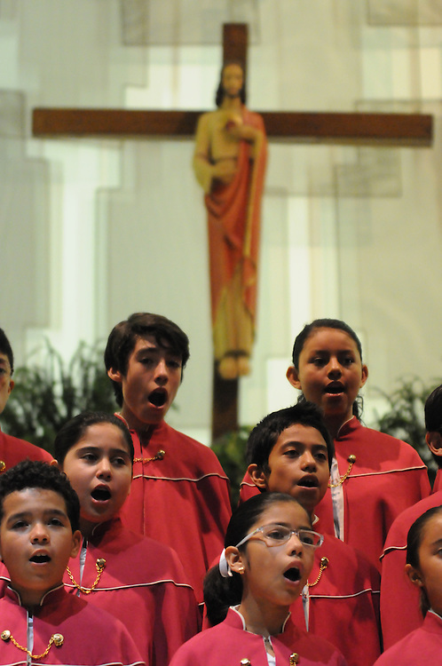 Niños Cantores de Morelia performs before a packed audience at St. Gall Parish on Chicago's southwest side.