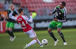 01-03-2015 NED: FC Utrecht - Feyenoord, Utrecht<br /> In de Galgenwaard voltrok zich een inspiratieloos duel en eindigde dan ook in 0-0 / Jean-Paul Boëtius #7, Jeff Hardeveld #34