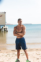 Wollaston Beach - Quincy MA<br /> Styled by Najaam Lee of The Vedic Image Group<br /> Model - Ty Smith<br /> Photography - Dan Busler