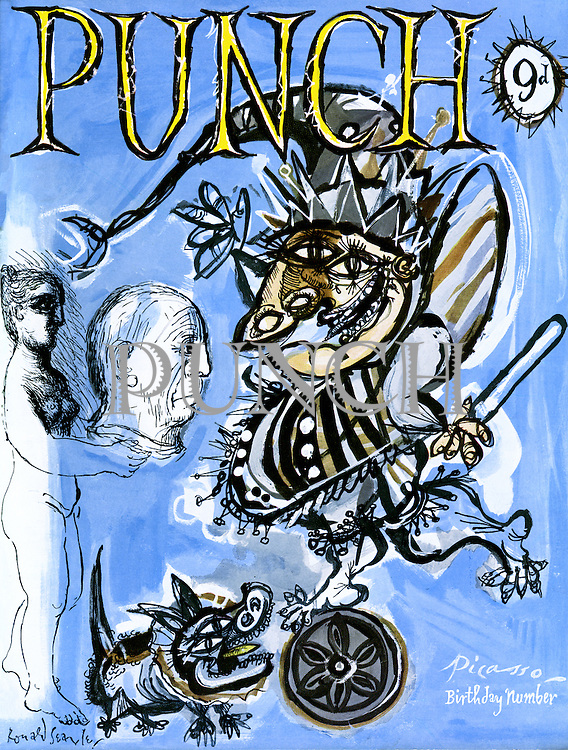 Punch cover 24 October 1956 (Picasso birthday issue)