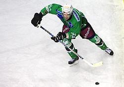 Andrej Tavzelj at 39th Round of EBEL League ice hockey match between HDD Tilia Olimpija and HK Acroni Jesenice, on December 30, 2008, in Arena Tivoli, Ljubljana, Slovenia. Tilia Olimpija won 4:3. (Photo by Vid Ponikvar / SportIda).