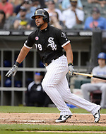 CHICAGO - MAY 18:  Jose Abreu #79 of the Chicago White Sox bats against the Toronto Blue Jays on May 18, 2019 at Guaranteed Rate Field in Chicago, Illinois.  (Photo by Ron Vesely)  Subject:  Jose Abreu