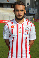 Rayan Frikeche during the photocall of Ac Ajaccio for new season on October 17th 2016<br /> Photo : Jean Pierre Belzit / Icon Sport