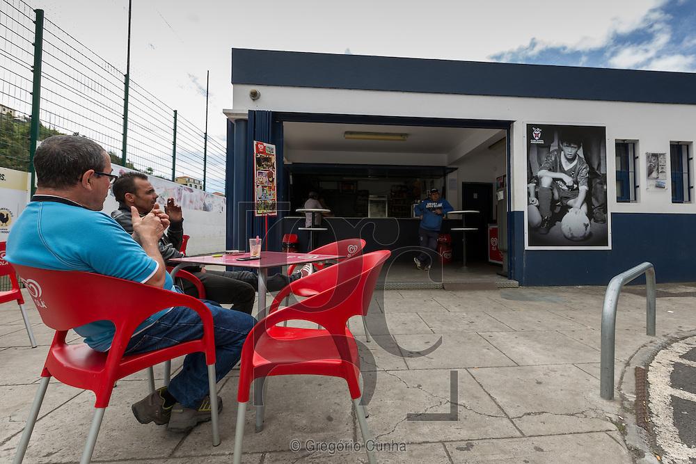 Portugal, MADEIRA, Funchal city : Bar of 1st club Cristiano Ronaldo, Clube Futebol Andorinha.<br /> Photo Gregório Cunha
