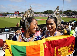 Sri Lanka fans in the stands during the ICC Cricket World Cup group stage match at Riverside Durham.