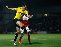 Burton Albion's Jack Dyer scores the equalising goal - Photo mandatory by-line: Matt Bunn/JMP - Tel: Mobile: 07966 386802 27/08/2013 - SPORT - FOOTBALL - Pirelli Stadium - Burton - Burton Albion V Fulham -  Capital One Cup - Round 2