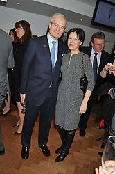 The French Ambassador to the UK H.E. BERNARD EMIE and his wife ISABELLE EMIE at the Grand Opening of Le Cordon Bleu's International Flagship School at 15 Bloomsbury Square, London WC1 on 7th February 2012.
