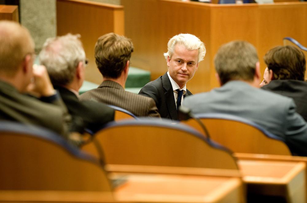 Nederland, den Haag, 22 sept  2011.Algemene Politieke Beschouwingen in de Tweede Kamer..Wilders en zijn groep in de kamer.Foto(c): Michiel Wijnbergh
