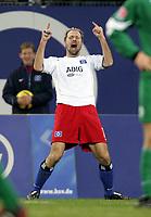 Fotball<br /> Bundesliga Tyskland 2004/05<br /> Hamburger SV v Wolfsburg<br /> 20. november 2004<br /> Foto: Digitalsport<br /> NORWAY ONLY<br /> Sergej Barbarez jubelt