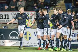 Falkirk's Lee Miller celebrates after scoring their first goal. Falkirk 2 v 0 Livingston, Scottish Championship game played 29/12/2015 at The Falkirk Stadium.