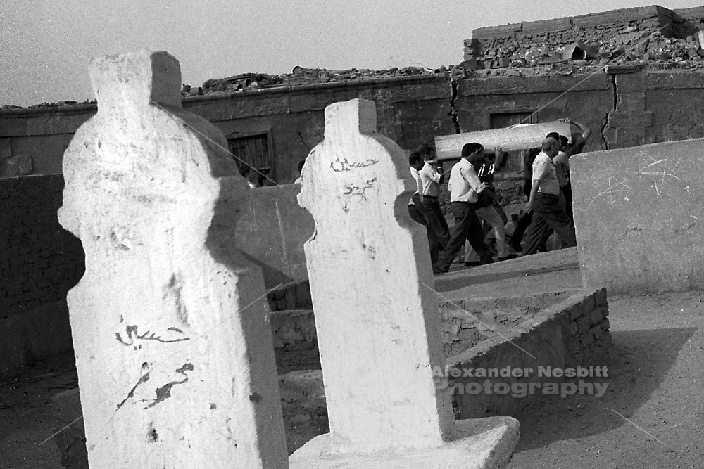 Cairo, Egypt, The City of the Dead, 2000 - a funeral procession passes by