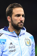 Gonzalo Higuain of Argentina - Argentina vs. Portugal - International Friendly - Old Trafford - Manchester - 18/11/2014 Pic Philip Oldham/Sportimage