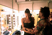 New York, New York- June 10: (L-R) Recording Artists Alice Smith and Bilal backstage at the BRIC Celebrate Brooklyn Festival with Alice Smith/Bilal/Kris Bowers held at the Prospect Park Bandshell  on June 10, 2017 in Brooklyn, New York City.   (Photo by Terrence Jennings/terrencejennings.com)