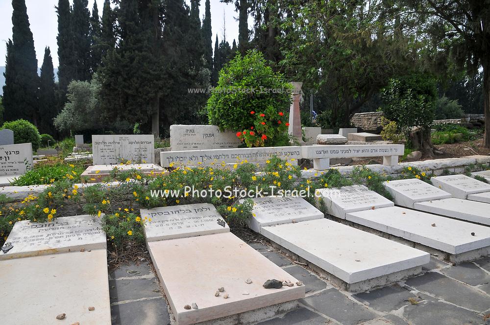 Tel Hai Military cemetery, Tel Hai, Upper Galilee, Israel