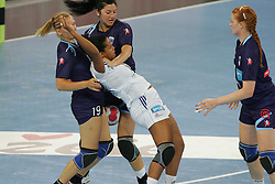 Irman Neli of Slovenia during handball match between National teams of Slovenia and France of 2011 Women's World Championship Play-off, on June 12, 2011 in Arena Stozice, Ljubljana, Slovenia. (Photo By Urban Urbanc / Sportida.com)