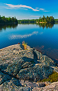 Blindfold Lake and rocky shoreline<br />