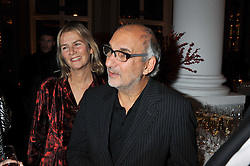 ALAN YENTOB and PHILLIPA WALKER at a dinner hosted by Pablo Ganguli and Ella Krasner to celebrate the 10th Anniversary of Liberatum and in honour of Sir Peter Blake held at The Corinthia Hotel, Nortumberland Avenue, London on 23rd November 2011.