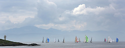The Silvers Marine Scottish Series 2014, organised by the  Clyde Cruising Club,  celebrates it's 40th anniversary.<br /> Arran, Fleet, Skate Lighthouse<br /> Final day racing on Loch Fyne from 23rd-26th May 2014<br /> <br /> Credit : Marc Turner / PFM