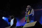 PHILADELPHIA, PA-JUNE 1: (L-R) Recording Artist Black Thought of the ROOTS and Recording Artist/Actor Yasiin Bey perform at the 12th Annual ROOTS Picnic featuring special guest Recording Artist/Actor Yasiin Bey and others on June 1, 2019  held at Fairmont Park in Philadelphia, PA.  (Photo by Terrence Jennings/terrencejennings.com)