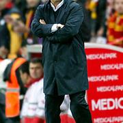 Galatasaray's coach Fatih TERIM during their Turkish Super League soccer match Galatasaray between Bursaspor at the TT Arena at Seyrantepe in Istanbul Turkey on Sunday 16 October 2011. Photo by TURKPIX
