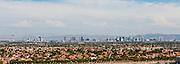 wide angle panoramic cityscape Las Vegas, Nevada, USA